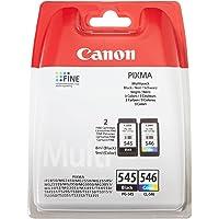 Canon PRIXMA Wkłady Atramentowe Do Drukarki PG-545 + CLI-546 BK/C/M/Y, Wielopak