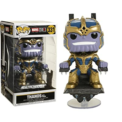 Funko Pop Marvel: Thanos on Throne Collectible Figure, Multicolor: Toys & Games