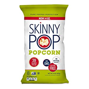 Original Skinny Pop, All Natural Popcorn Gluten FREE - NON GMO - 2 packs of 14 oz Total of 28 oz