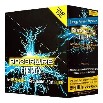 Razorwire Energie 12 x 4 Kapseln eine gesunde Alternative zu Energie ...