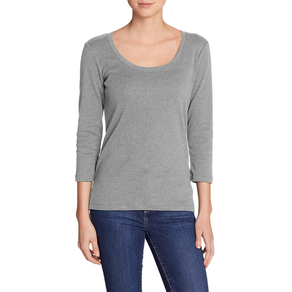 Eddie Bauer Women's Favorite 3/4-Sleeve Scoop-Neck T-Shirt 38986
