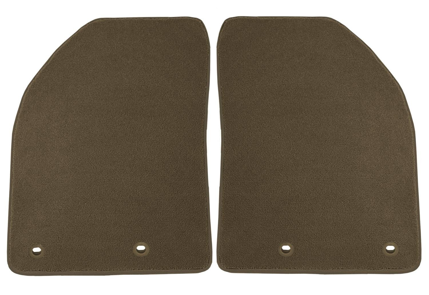 CFMAX1DG9014 Nylon Carpet Coverking Custom Fit Front Floor Mats for Select Dodge Caravan Models Black