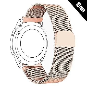 Shellong Correa de Acero Inoxidable para Reloj Huawei Watch, LG Watch, Nokia Withings Steel