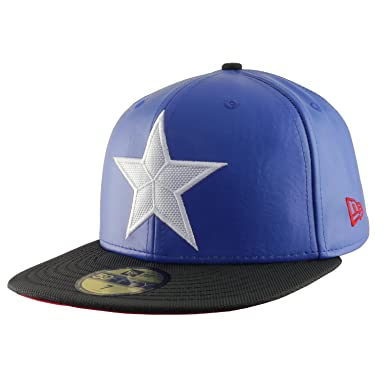 152fc9e1878bb Captain America Men s Marvel Character Suit New Era 59Fifty Hat Cap ...