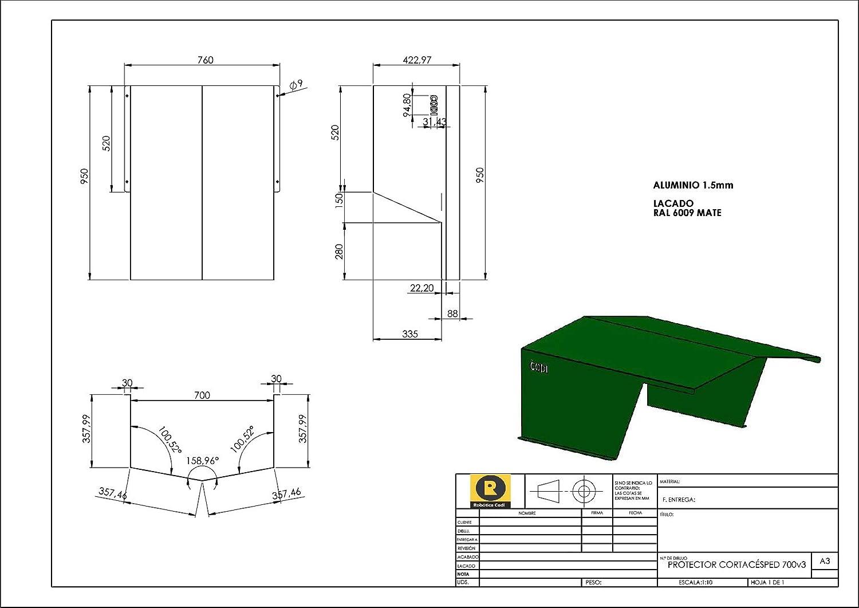 CODI Caseta/Garaje Robot cortacésped, Mod 700 Aluminio. Válido par Todos los Fabricantes (Ambrogio, Gardena, Honda, Husqvarna, Viking Wolf,Robomow, ...