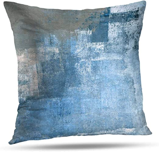 Painted ModernGeometricGeo Print OUTDOOR Abstract Curves Throw Pillow or Cover Sky 14 x 20 Lumbar Pillows or Covers Light Pastel Blue