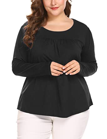 2cc3badf0ec IN VOLAND Women s Plus Size T-Shirt Tunic Top Blouses Shirt at ...