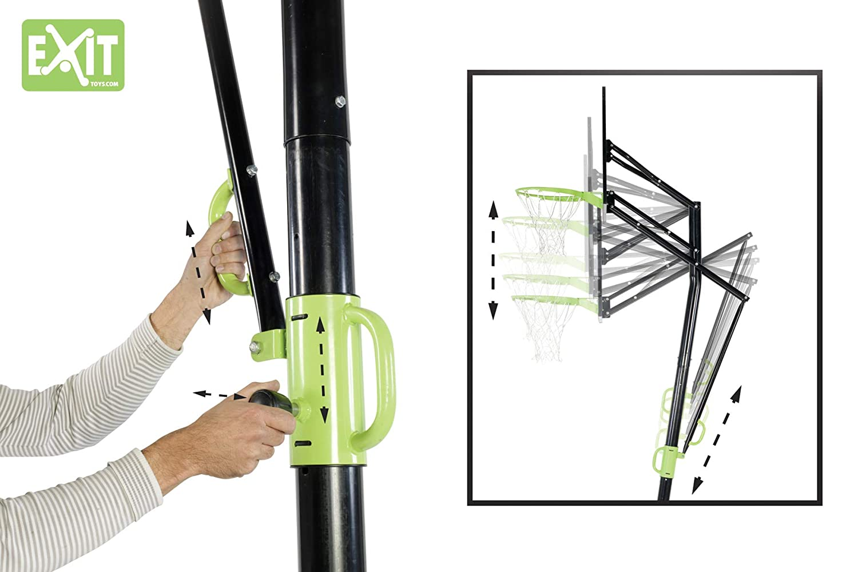Canasta de baloncesto port/átil Exit 46.05.10.00 ajustable con kit de montaje.