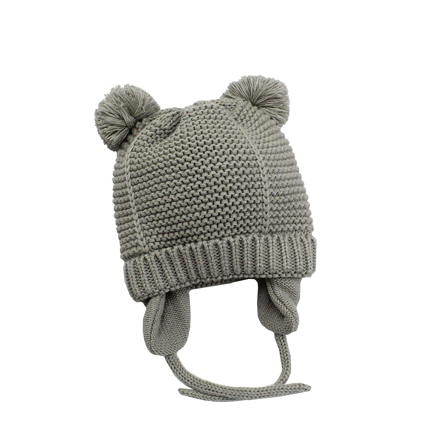 Boomly Baby Newborn Toddler Winter Hats Warm Soft Knitting Crochet Cap Beanie Hat with Animal Ear for Baby Boy Baby Girls