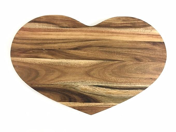 en bois en forme de cœur Planche à découper