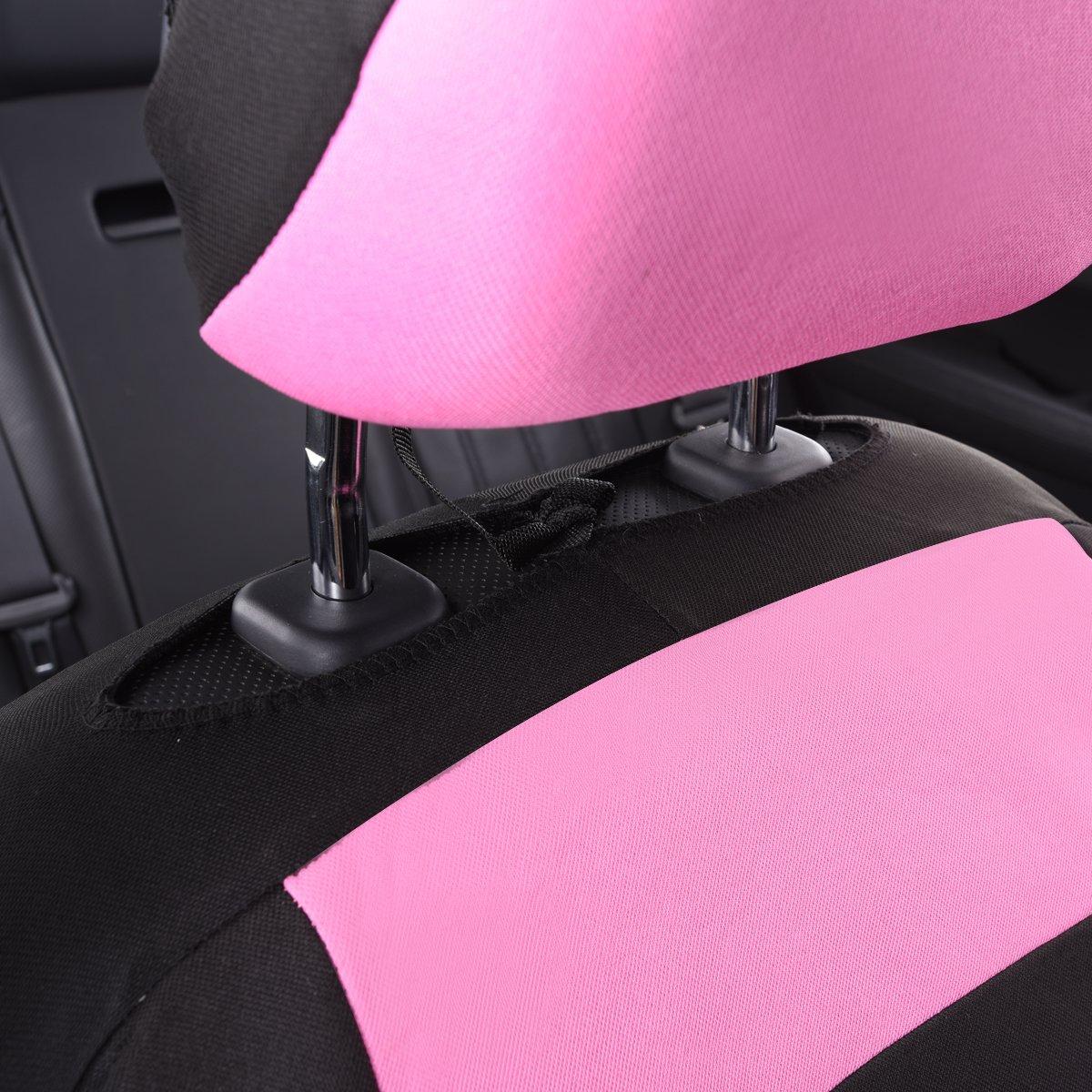 /6pcs Elegance universale automobile set coprisedili anteriori package-fit per veicoli airbag Compatiable Auto pass/ nero e grigio con composito spugna all interno