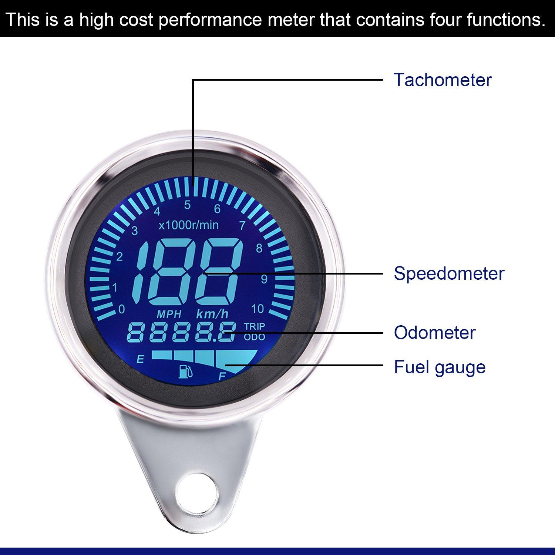 Samoleus Moto Auto 12V-24V 4.2A Dual USB Caricabatterie Adattatore con LED Voltmetro Portabile Impermeabile da Auto 2 IN 1 USB Caricatore