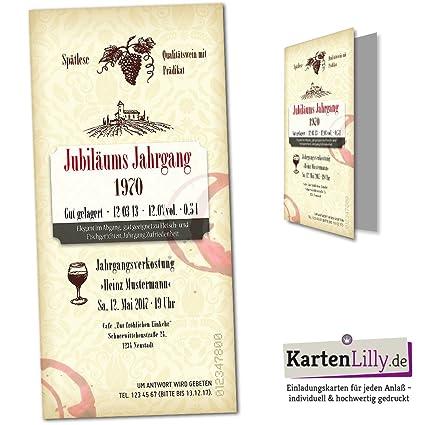 Invitación Para Cumpleaños 25 Unidades Etiqueta De Vino