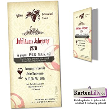 Invitation D Anniversaire 25 Pieces Etiquette De Vin Vin