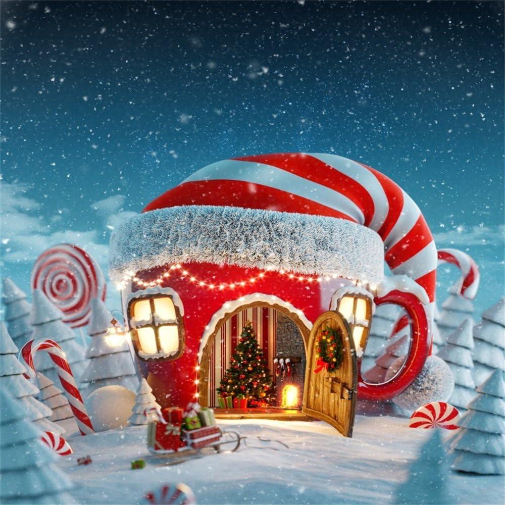 2020 Christmas Cottage Steam Winter Amazon.: OFILA Fantasy Christmas Cottage Backdrop 5x5ft