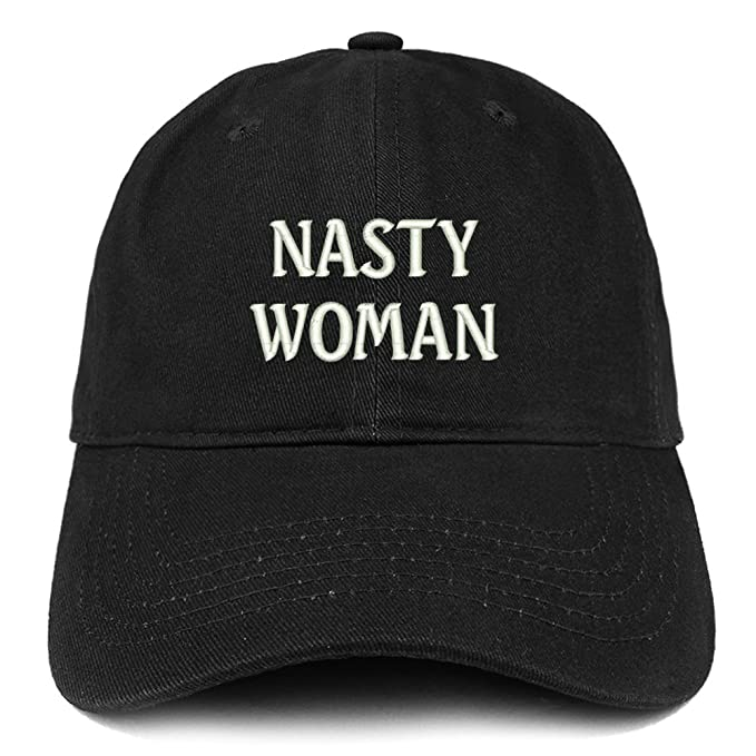 5e8bb6e21affc Trendy Apparel Shop Nasty Woman Embroidered Low Profile Adjustable Cap Dad  Hat - Black
