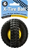 Pet Qwerks Animal Sounds X-Tire Ball Dog Toy