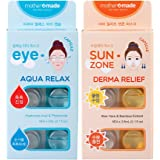 mothermade® Anti-Wrinkle Eye Mask & Deep Soothing Sun-Zone Mask – AquaRelax Eye Capsule & Derma Relief Sun-Zone Mask SET (6 patches x 2 pack, 12 use), Greatly Firming & Instantly Cooling Soothing