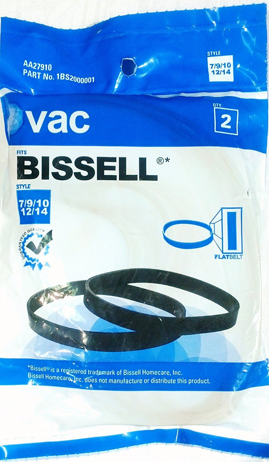 Bissell Vacuum Style 7, 9 , 10, 12, 14 Belt unknown SYNCHKG085649