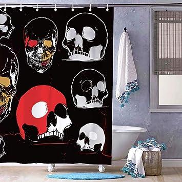 Rideau douche tête de mort 1