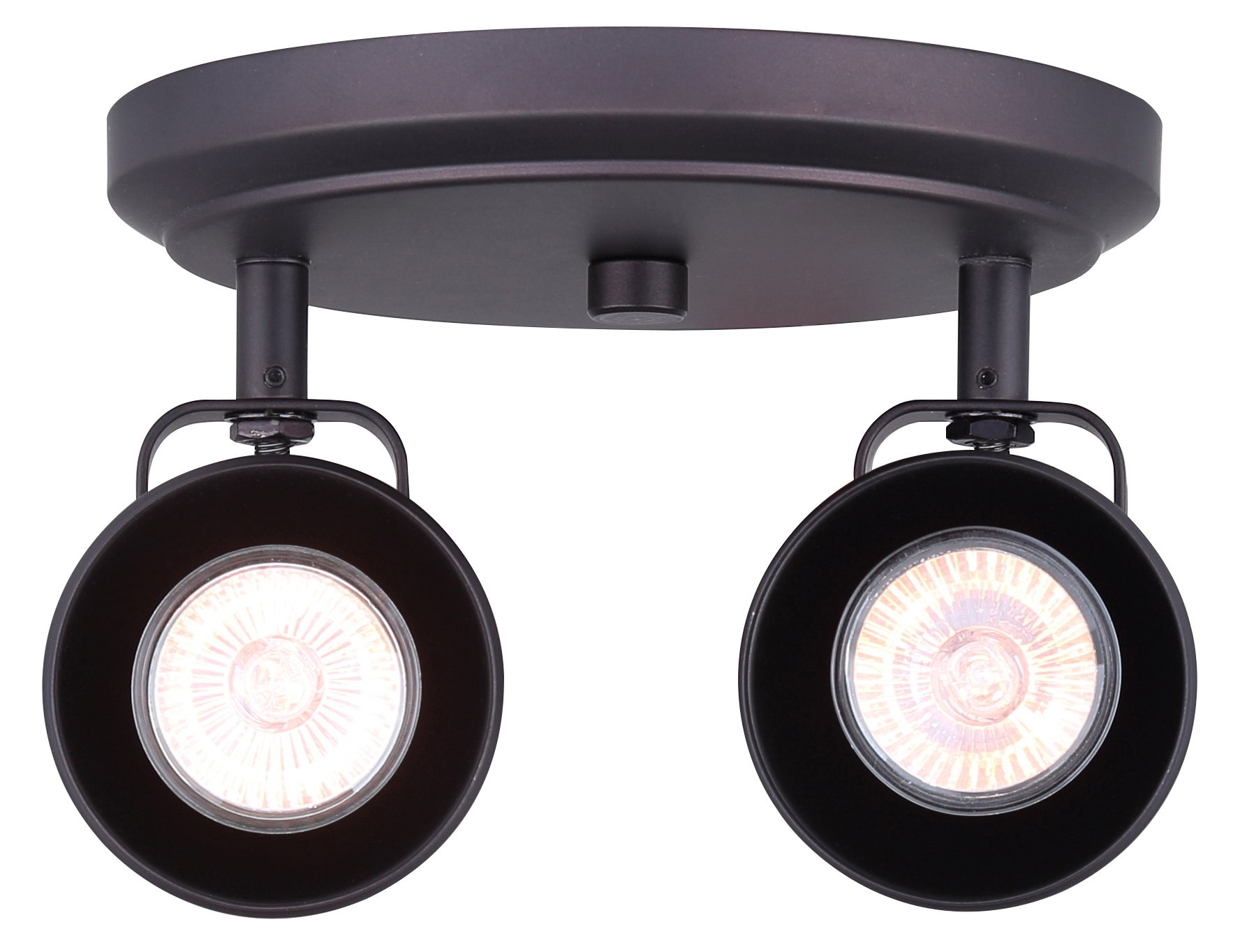 CANARM ICW622A02ORB10 LTD Polo 2 Light Ceiling/Wall, Oil Rubbed Bronze with Adjustable Heads