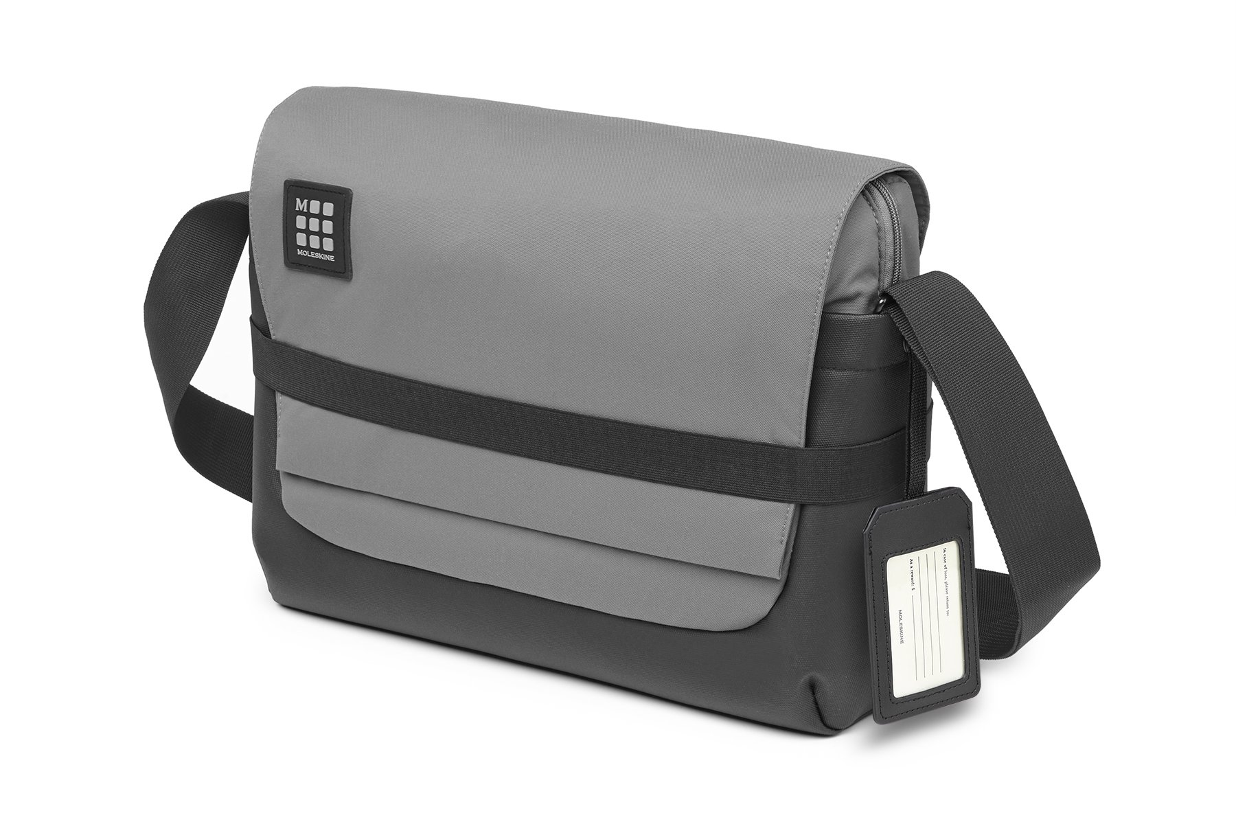 Moleskine ID Messenger Bag Slate Grey, For Work, School, Travel, and Everyday Use, Space for Devices Tablet Laptop and Chargers, Notebook Planner or Organizer, Padded Adjustable Straps, Zipper Pocket