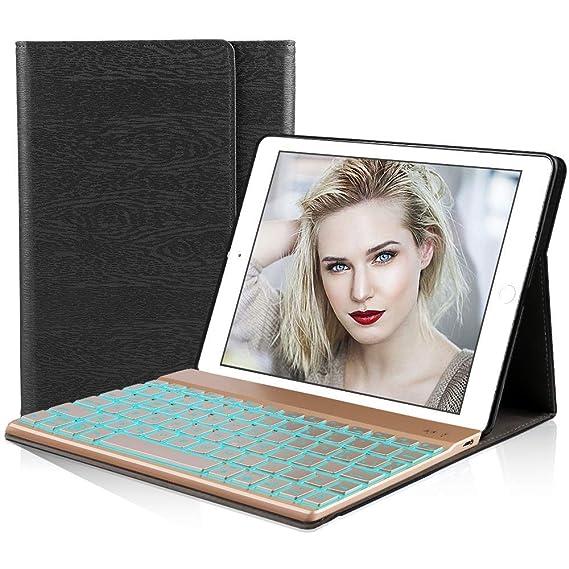 DINGRICH Funda Tablet Teclado Español, Caso de Tableta Teclado Bluetooth Inalámbrico Removable para Samsung Tab A 10.1 2016: Amazon.es: Electrónica