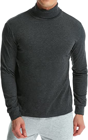 MODCHOK Hombre Camiseta de Manga Larga T-Shirt Cuello Alto Top tee Algod¨®n Slim Fit?: Amazon.es: Ropa y accesorios