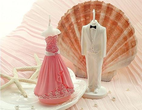 Un par de novio y novia Juego de moldes para velas de boda accesorios de boda