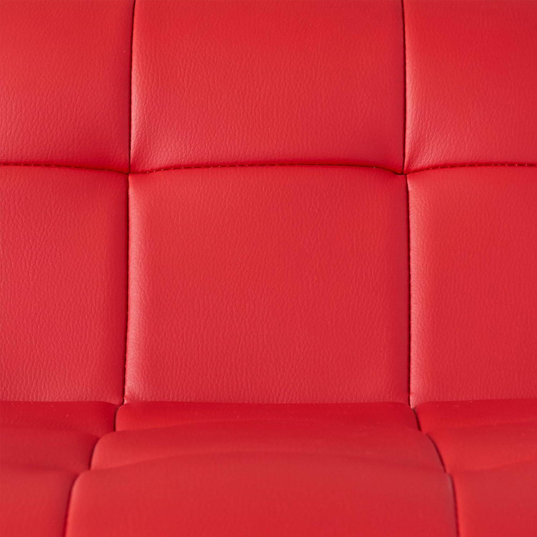 Abbey Avenue BS-BYN-500BSE Brynn Adjustable Bar Stool Set Red