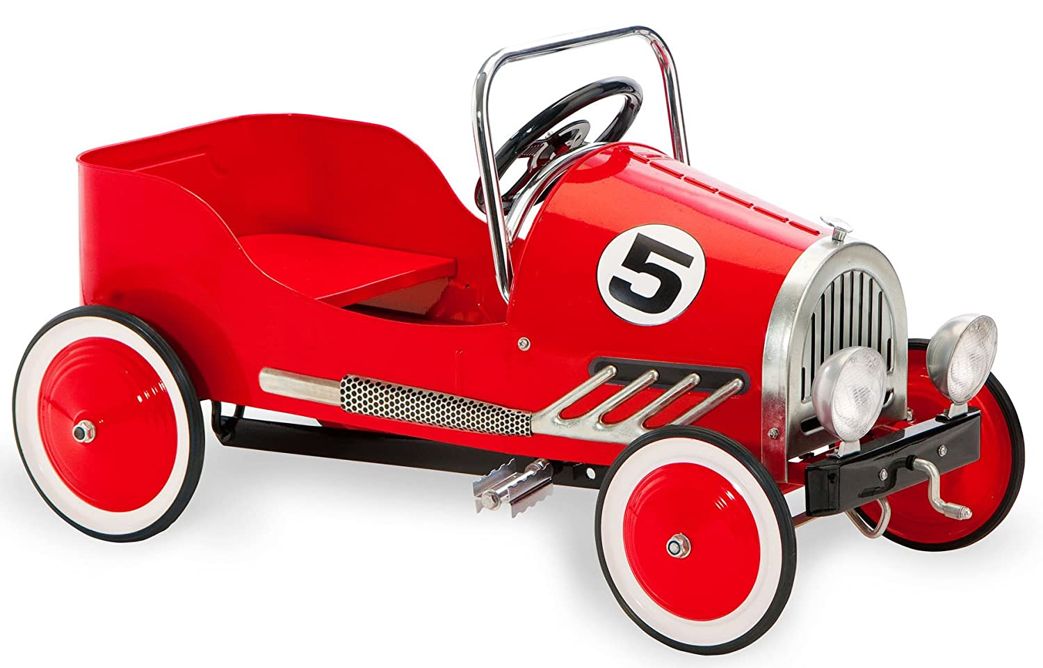 amazoncom morgan cycle retro style pedal car red toys games