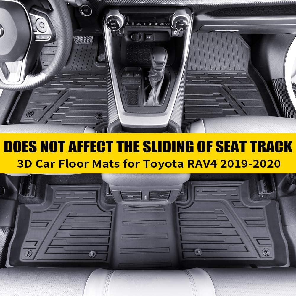 orealtrend Black TPO Floor Mats Liners for Toyota RAV4 2014 2015 2016 2017 2018 Heavy Duty All Weather Guard Front and Rear Car Carpet-Custom Fit-Tough//Durable//Odorless not for rav4 Hybrid