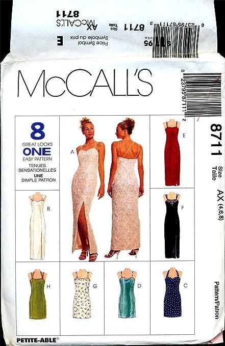 Amazon com: McCalls 8711 AX Evening Gown Cocktail Dress