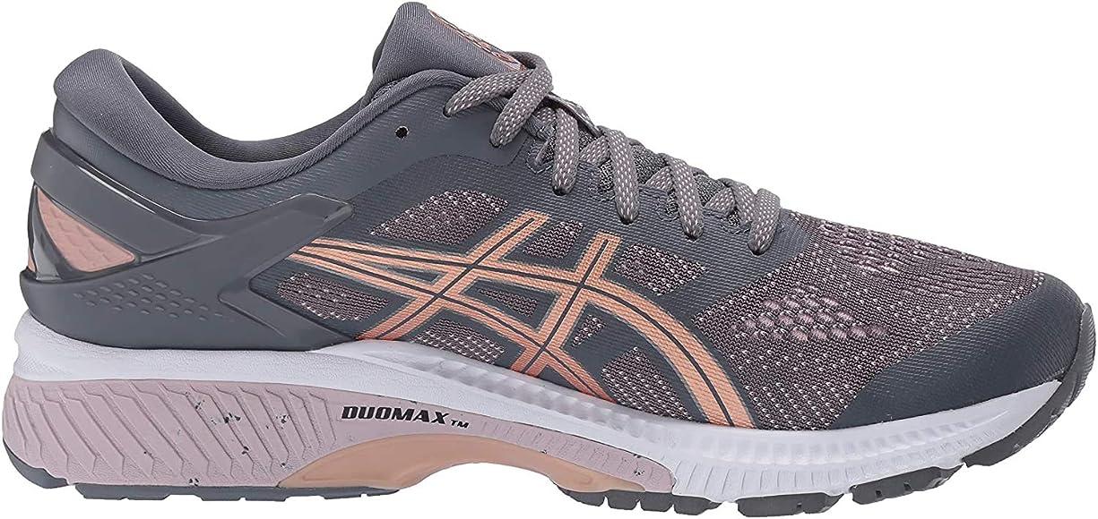 ASICS Womens Gel-Kayano 26 Running Shoes, 11.5M, Metropolis/Rose Gold: Amazon.es: Zapatos y complementos