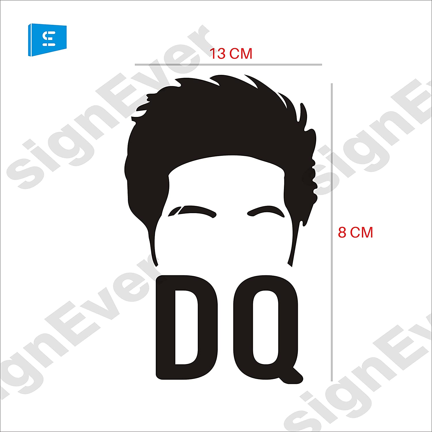 Sign ever dq logo dulquer salman silhouette car styling