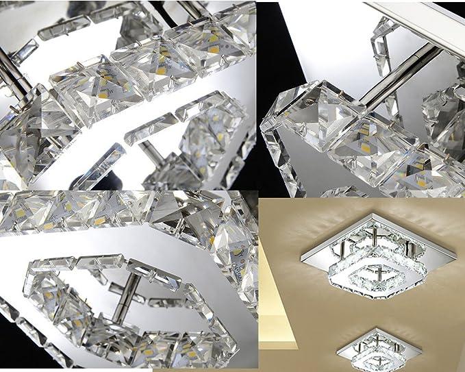 Vingo Led Kronleuchter Modern Deckenleuchte Kristall ~ Etime kristall deckenleuchte modern deckenlampe led edelstahl