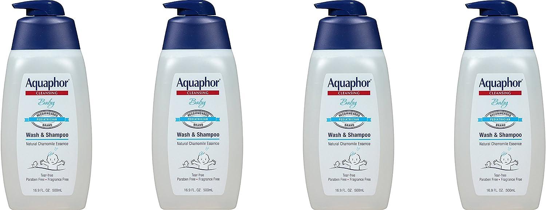 Aquaphor SfpMwU Baby Wash & Shampoo, 16.9 fl oz (4 Pack)