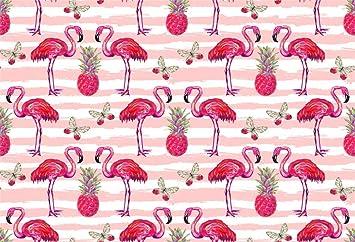 Amazoncom Csfoto 5x3ft Background For Flamingo Pineapple Pattern