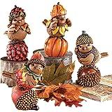 Fall Harvest Bird Sitter Decorations - Set of 4