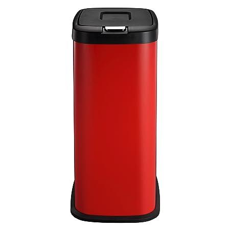 Mülleimer   Abfallbehälter Küche von HARIMA   38L Rot Abfalleimer ...