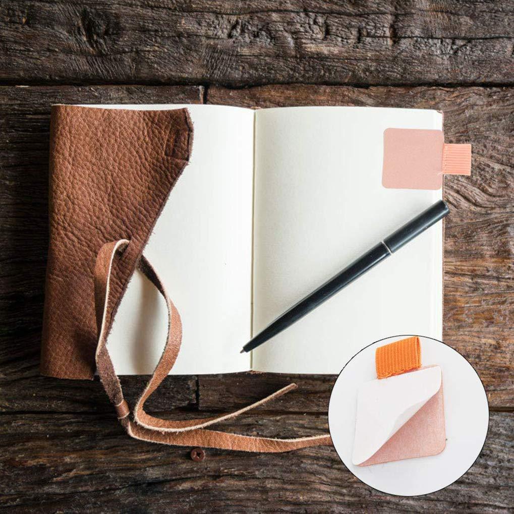 Lystaii 18pcs portapenne autoadesivo portapenne in ecopelle portapenne porta elastico per quaderni diari e calendari colori assortiti