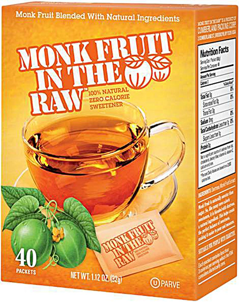 Sugar In The Raw Monk Fruit In The Raw - 40 per pack -- 8 packs per case.
