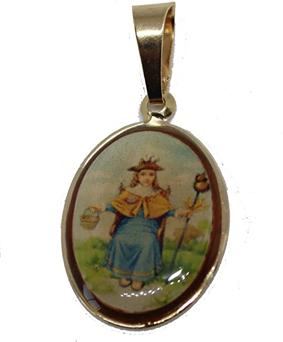 """Silver plated Padre Pio gift boxed round 1.8cm medal and 18/"""" necklace Catholic"""