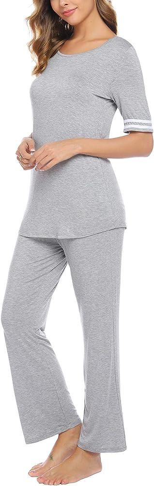 iClosam Pijamas Mujer Verano Casual Elegante Conjunto Mujer Pantalon Y Top: Amazon.es: Ropa y accesorios
