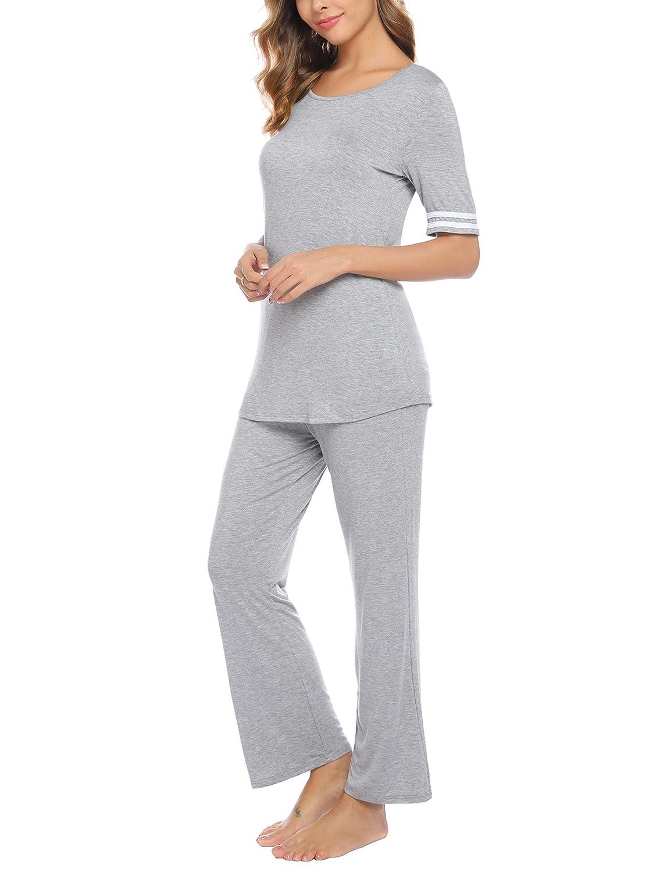 iClosam Pijama para Mujer De Dos Piezas Conjuntos de chándal ...