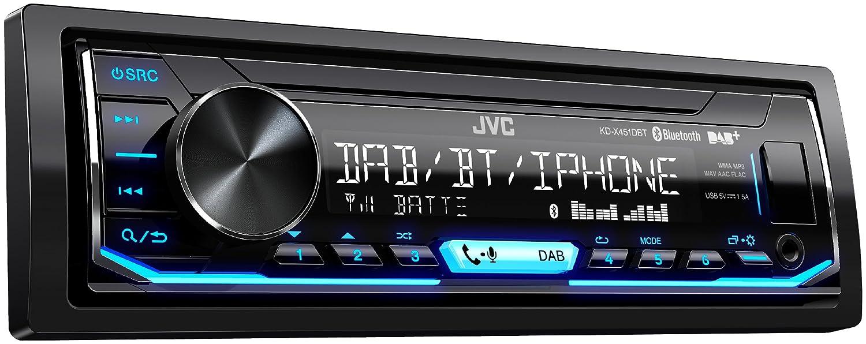 JVC X451 DBT Digital Media Receiver with Bluetooth Hands-Free and Digital  Radio DAB + - Black: Amazon.co.uk: Electronics