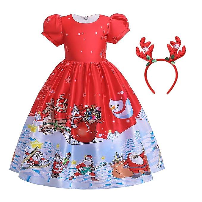 Amazon.com: DYMCII - Vestido de Navidad para niña, diseño de ...