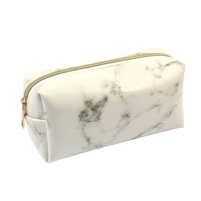 Pochette Portatrucchi da Viaggio Donne Beauty Case PU Marmo Organizzatore Cosmetic Borse per il trucco Borsa da Toilette 19 * 7 * 9 cm JoXiGo
