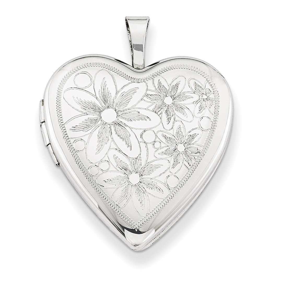 ICE CARATS 925 Sterling Silver 20mm Daisies Heart Photo Pendant Charm Locket Chain Necklace That Holds Pictures W/chain Fine Jewelry Ideal Gifts For Women Gift Set From Heart