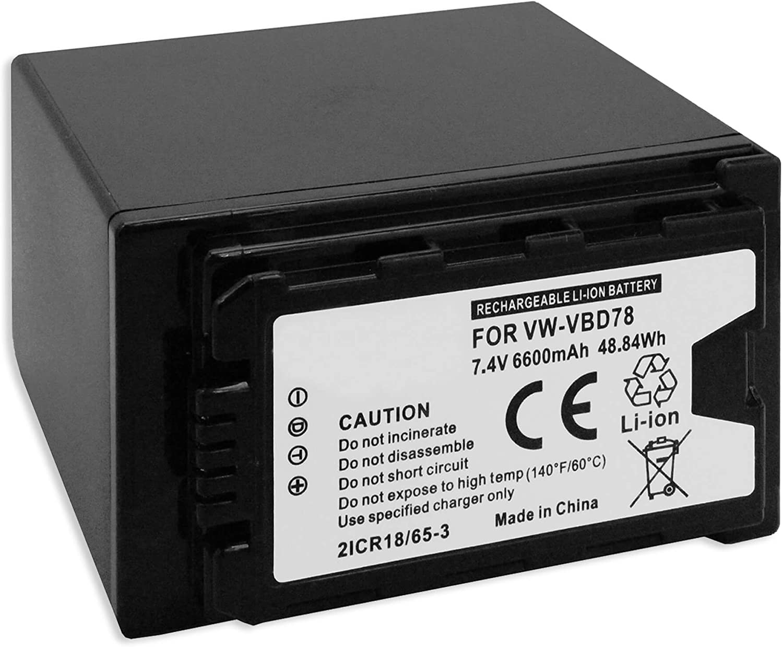 Ladeger/ät VW-VBD78 f/ür Panasonic AG-AC8 KFZ, Netz PX270 AC30 Akku mit LED-Ladestandsanzeige UX180 // AJ-PX230 EJ X1000 PX298 // AU-EVA1 // HC-X1 UX90 DVX200